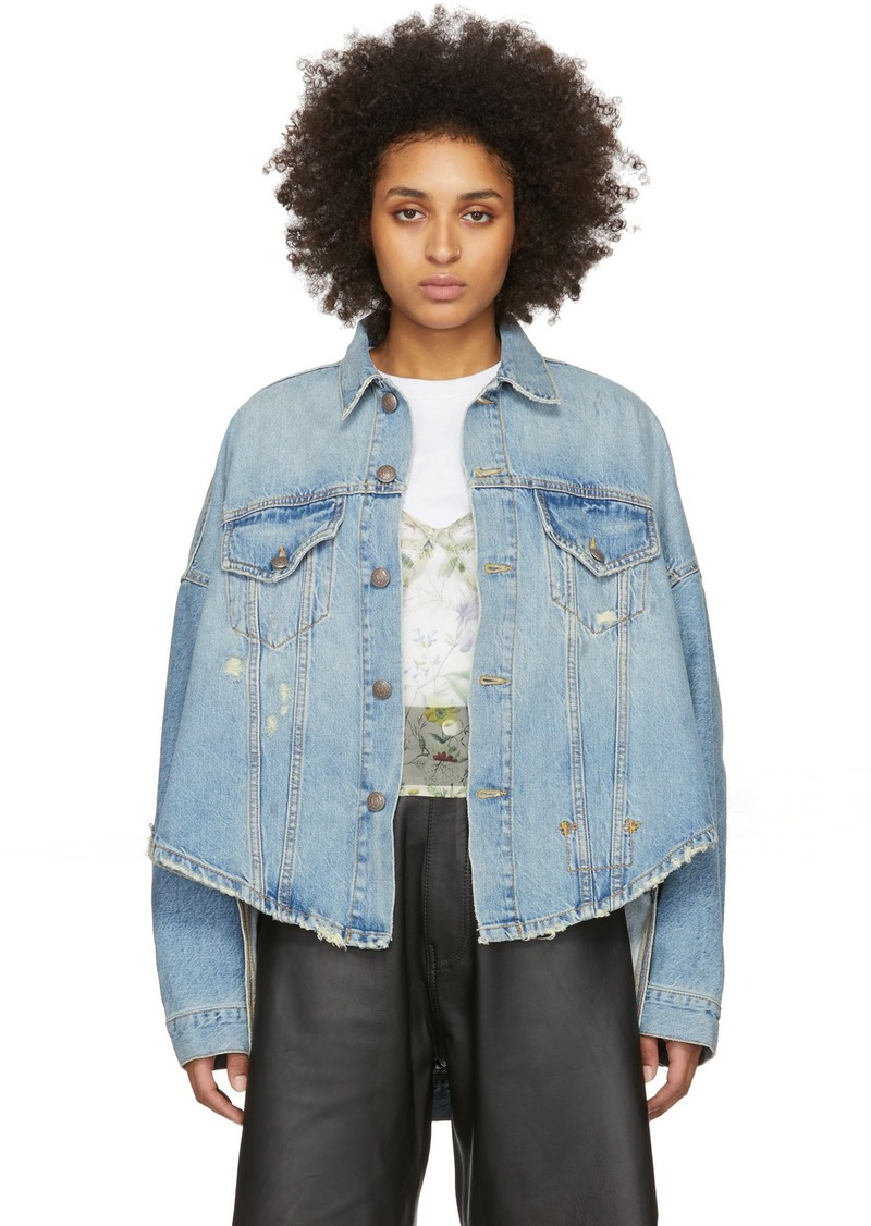 R13 Blue Denim Oversized Trucker Jacket