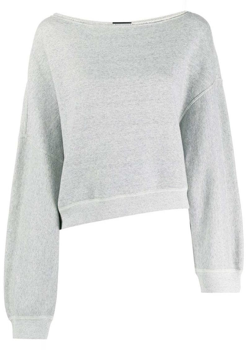 R13 boat neck sweatshirt