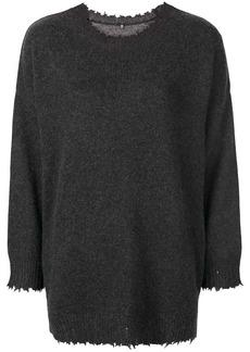 R13 boxy distressed sweater