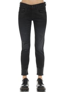 R13 Boy Straight Leg Coated Cotton Jeans