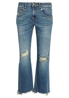 R13 Boy Straight-Leg Crop Jeans