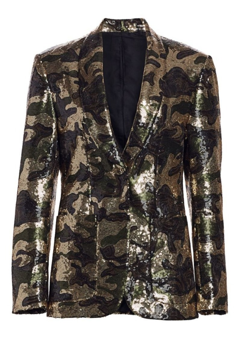 R13 Camo Sequin Blazer