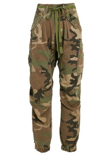 R13 Camouflage Drop Crotch Cargo Pants