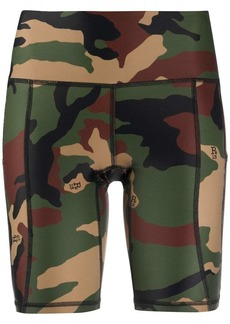 R13 camouflage print bicycle shorts