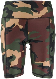 R13 camouflage-print cycling shorts