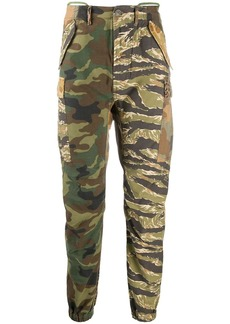 R13 camouflage print skinny trousers