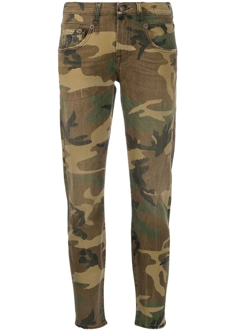 R13 camouflage-print skinny trousers