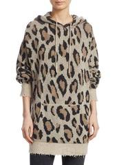 R13 Cashmere Leopard Hoodie