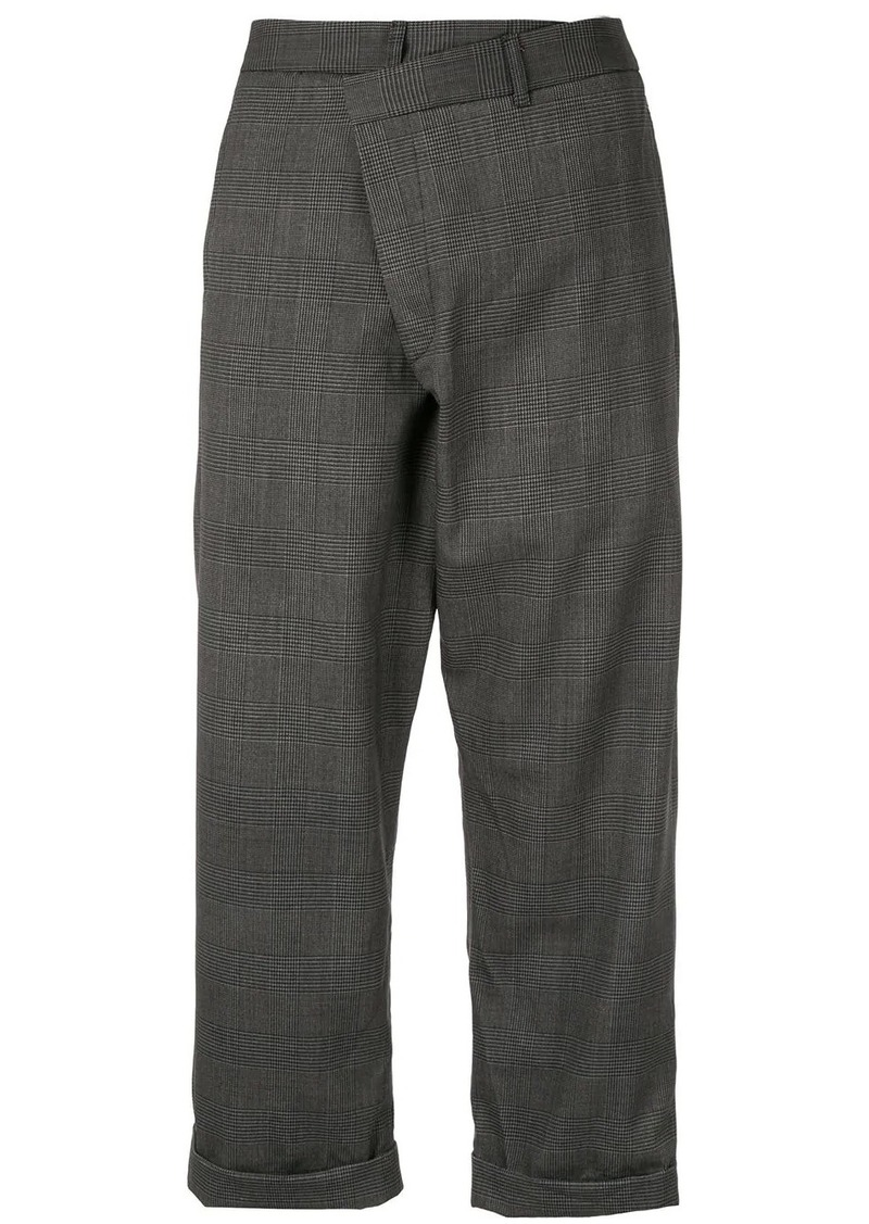 R13 checked trousers