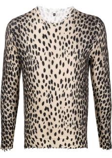 R13 cheetah-print cashmere jumper