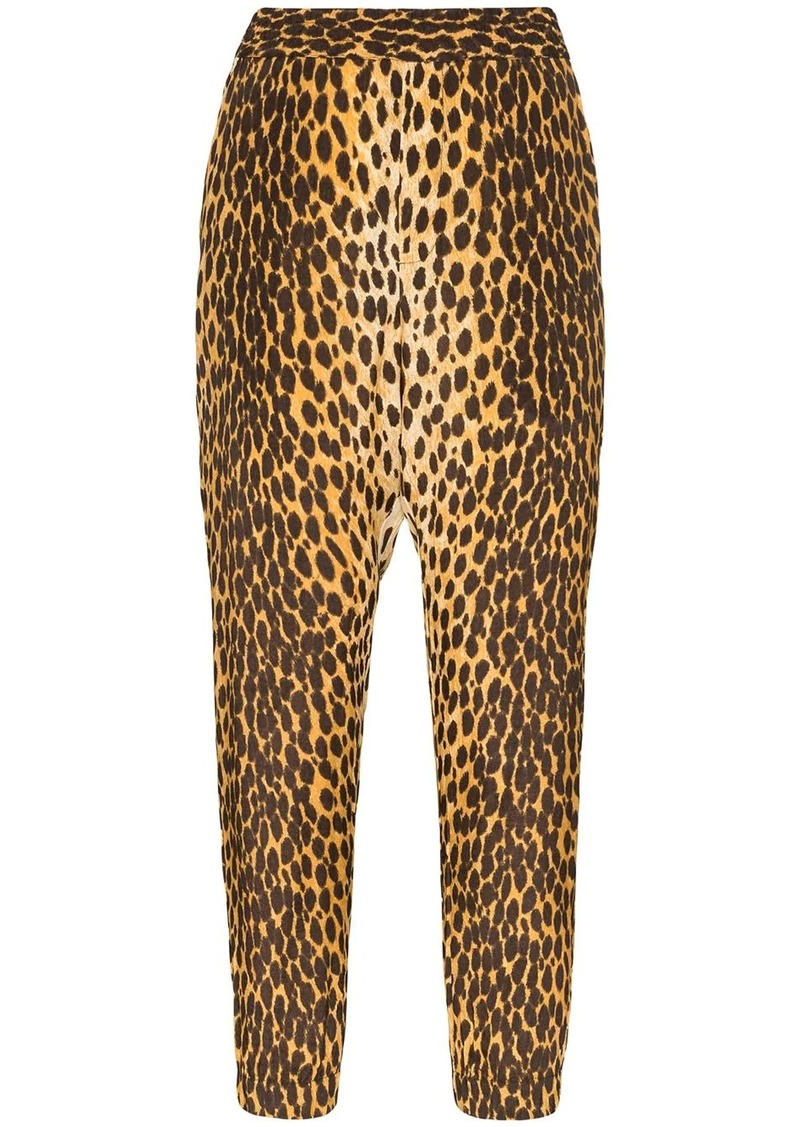 R13 cheetah-print harem trousers