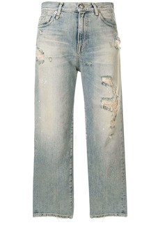 R13 Cheryl ripped cropped jeans