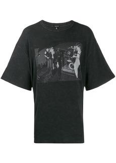 R13 contrast print T-shirt