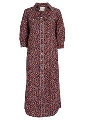 R13 Cowboy Floral Shirt Dress