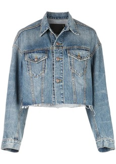 R13 cropped denim jacket