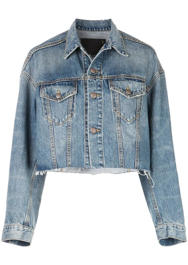R13 cropped denim jacket