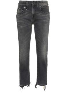 R13 cropped frayed Boy jeans