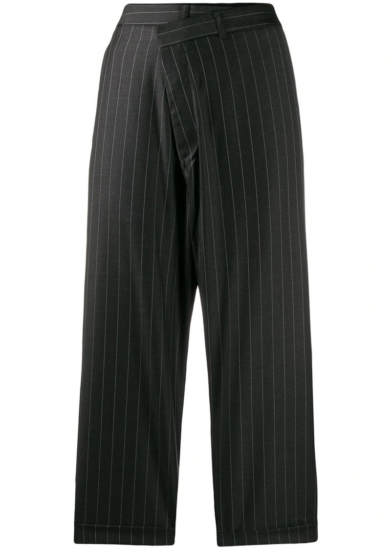R13 cropped pinstripe trousers