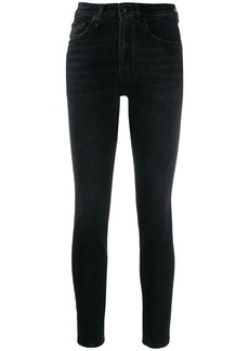 R13 cropped skinny fit jeans
