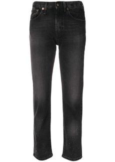 R13 cropped slim-fit jeans