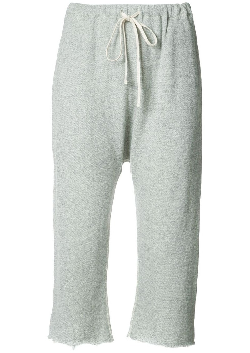 R13 cropped track trousers