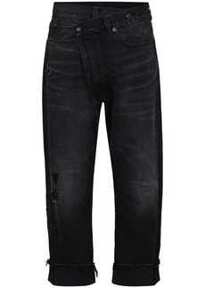 R13 Crossover cropped jeans