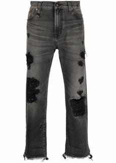 R13 dark-wash straight-leg jeans