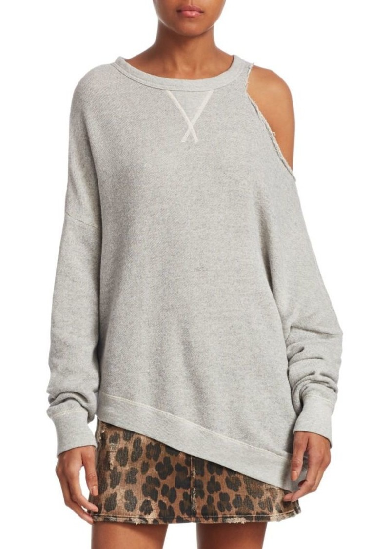 R13 Distorted Cotton Sweatshirt