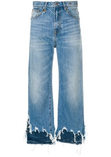 R13 distressed cropped jeans