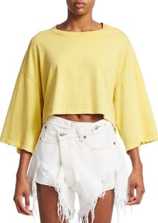 R13 Distressed Cropped Venice Tee
