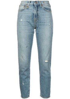 R13 distressed girlfriend jeans