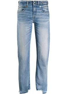 R13 distressed hem boyfriend jeans