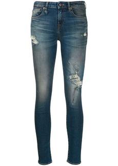 R13 distressed skinny jeans