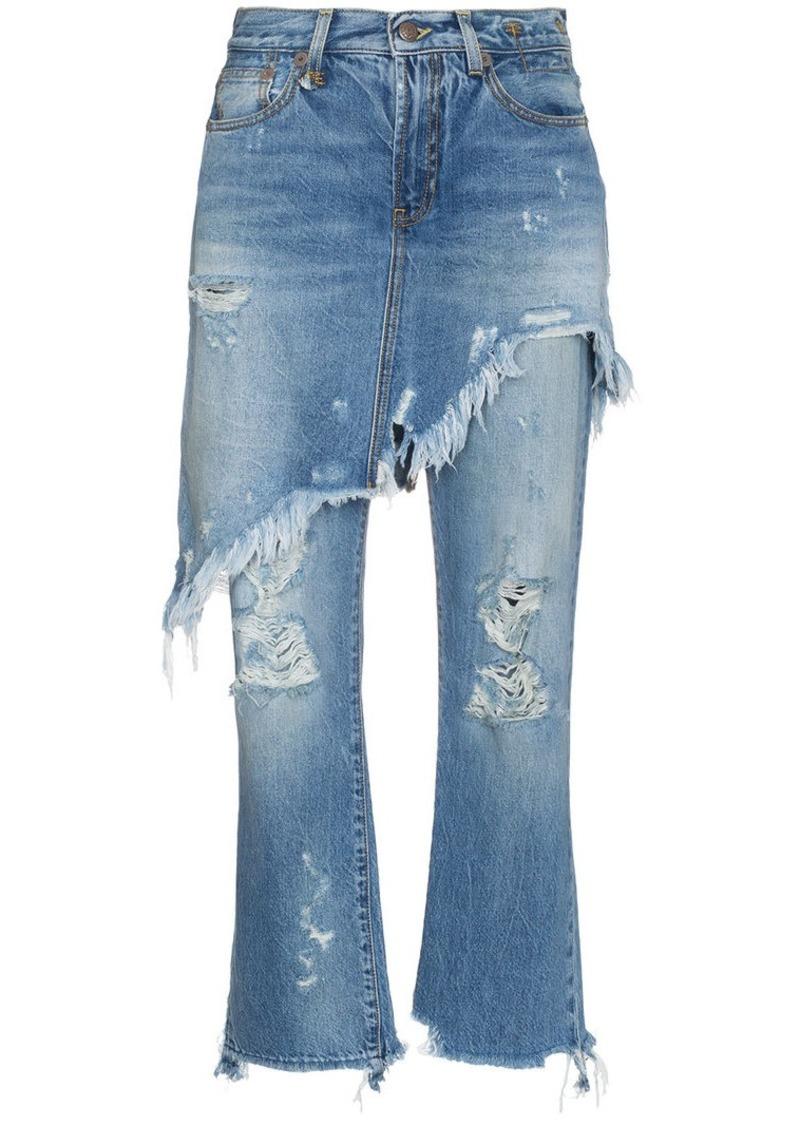 2f064680772 R13 Double Classic Shredded Jeans   Denim
