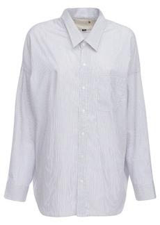 R13 Drop Neck Cotton Poplin Shirt