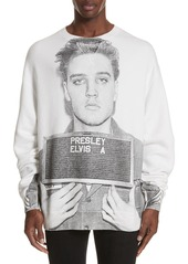 R13 Elvis Mug Shot Sweatshirt