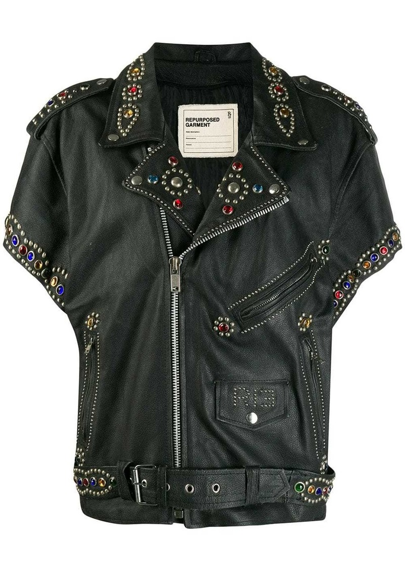 R13 embellished biker jacket