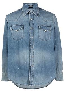 R13 faded denim shirt