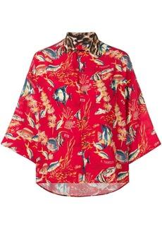 R13 fish print shirt