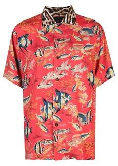 R13 fish printed shirt