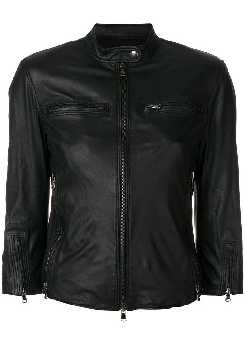 R13 fitted leather jacket