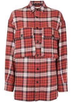 R13 flap-pocket plaid shirt