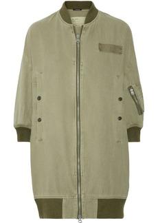 R13 Flight cotton and hemp-blend bomber jacket
