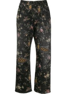 R13 floral print denim jeans