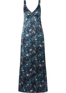 R13 Floral-print Silk-georgette Maxi Dress