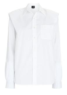 R13 Folded Shoulder Poplin Shirt