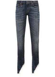 R13 frayed skinny jeans