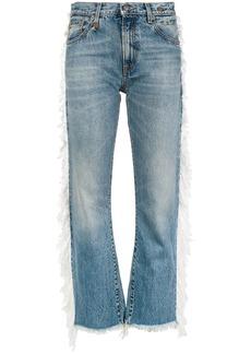 R13 fringed straight-leg jeans