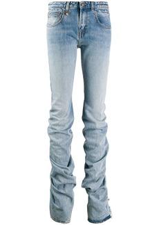 R13 gathered hem jeans