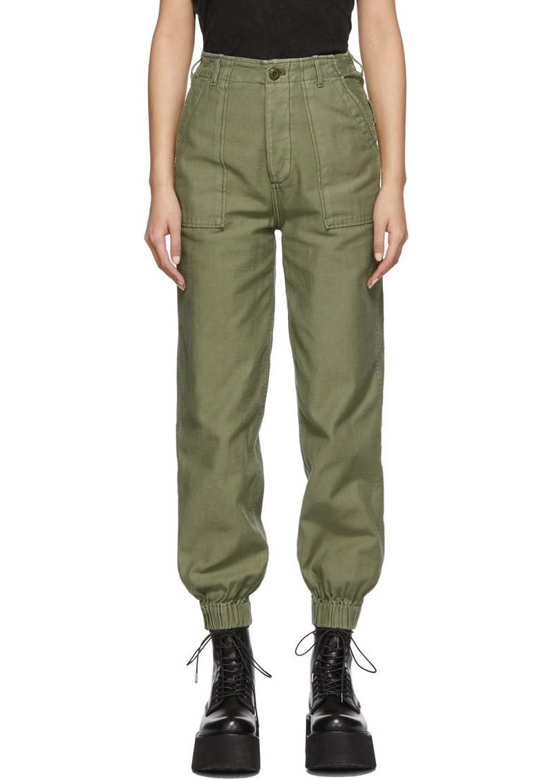 R13 Green Utility Trousers